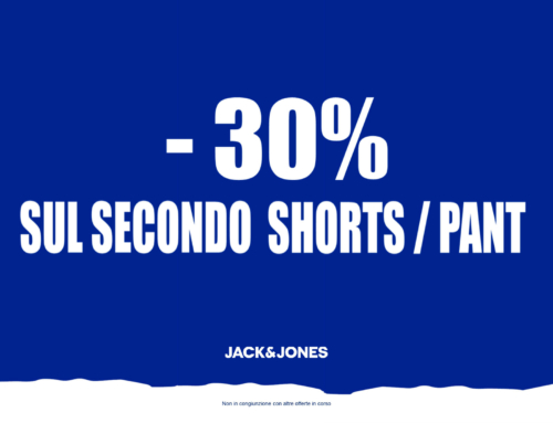 Jack & Jones -30% sul secondo shorts/pant!